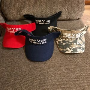 Trump Visors Red
